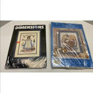 Preowned Lot Of 2 Counted Cross Stitch Kits